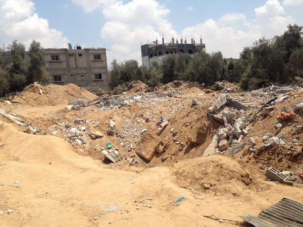Family home destroyed in Gaza.